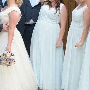 Light blue floor length dress